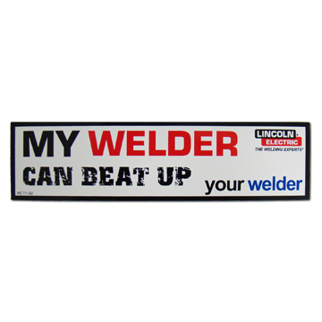 Lincoln Electric Welder Bumper Sticker