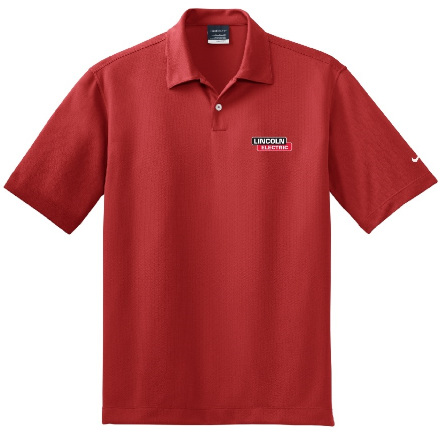 Red Nike Dri-Fit Pebble Texture Polo
