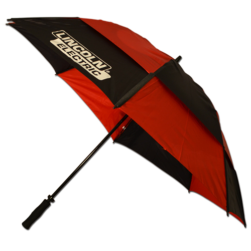 Black/Red Windproof Golf Umbrella