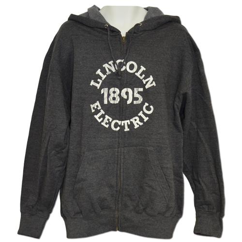 Charcoal Full Zip Hooded Sweatshirt