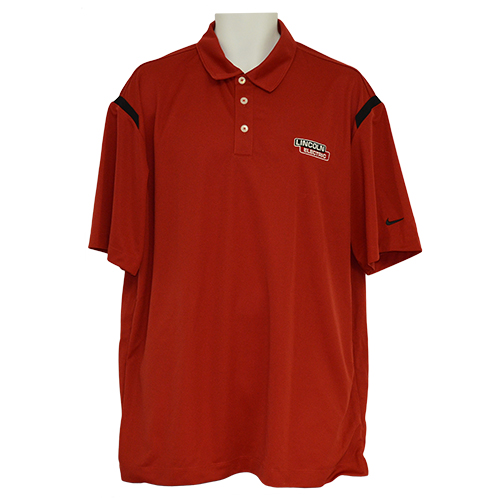Red/Black Nike Dri-Fit Shoulder Stripe Polo