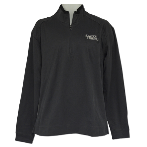 Iron Grey-Black Textured 1-4 Zip Pullover