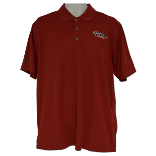 University Red Adidas ClimaLite Performance Polo
