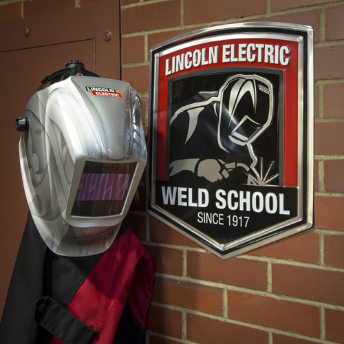 Die Cut Weld School Aluminum Sign