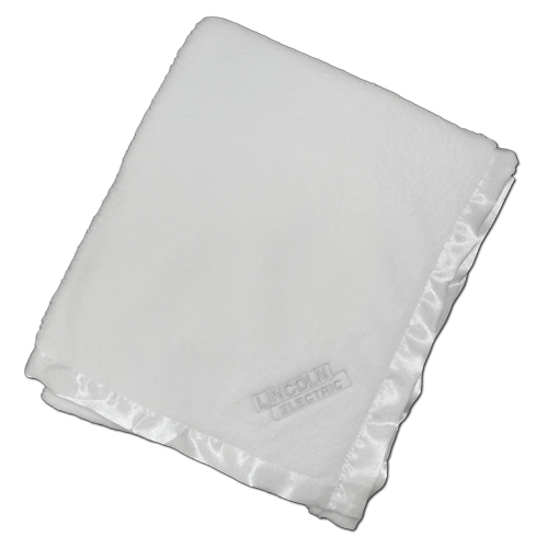 White Deluxe Plush Baby Blanket